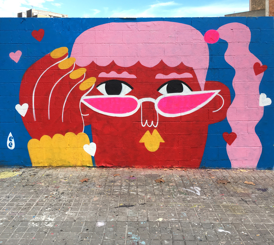 Wallspot - EmilyE - Crush - Barcelona - Agricultura - Graffity - Legal Walls - Ilustración