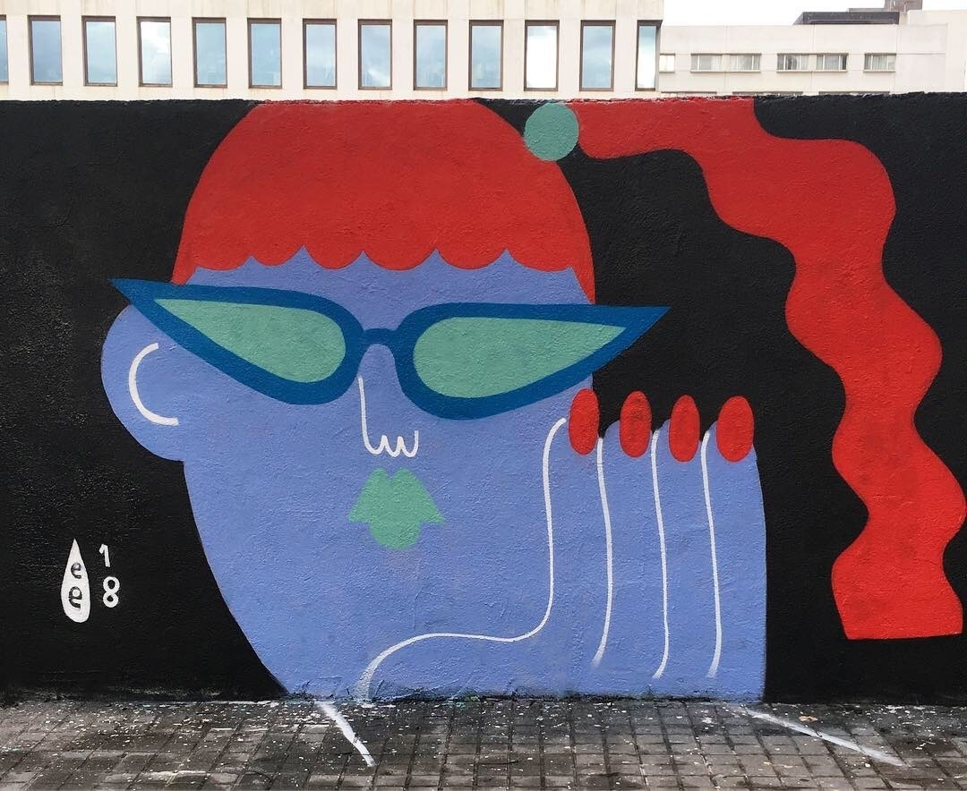 Wallspot - EmilyE - Poble Nou - EmilyE - Barcelona - Poble Nou - Graffity - Legal Walls - Ilustración