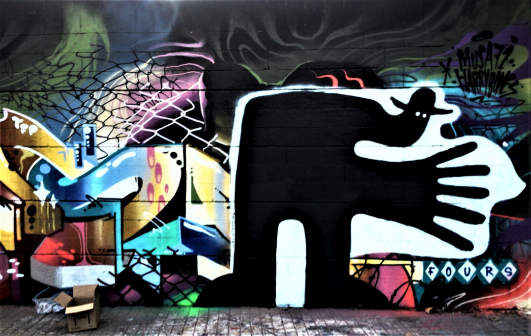 Wallspot - Waldacting - Drassanes - WALDACTING - Barcelona - Drassanes - Graffity - Legal Walls -