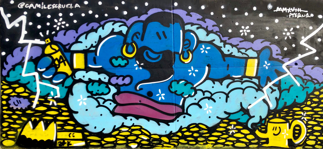 Wallspot - kamil escruela - genius - Barcelona - Forum beach - Graffity - Legal Walls - Illustration, Others
