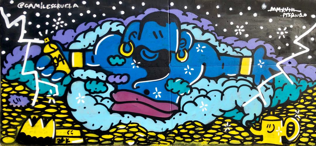 Wallspot - kamil escruela - genius - Barcelona - Forum beach - Graffity - Legal Walls - Illustration, Others