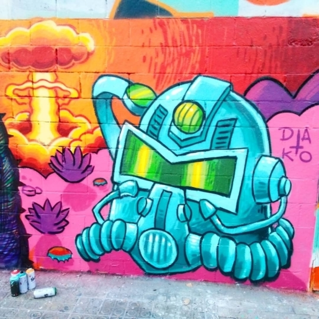 Wallspot - Dako - Crocodile Never Changes - Barcelona - Poble Nou - Graffity - Legal Walls - Ilustración
