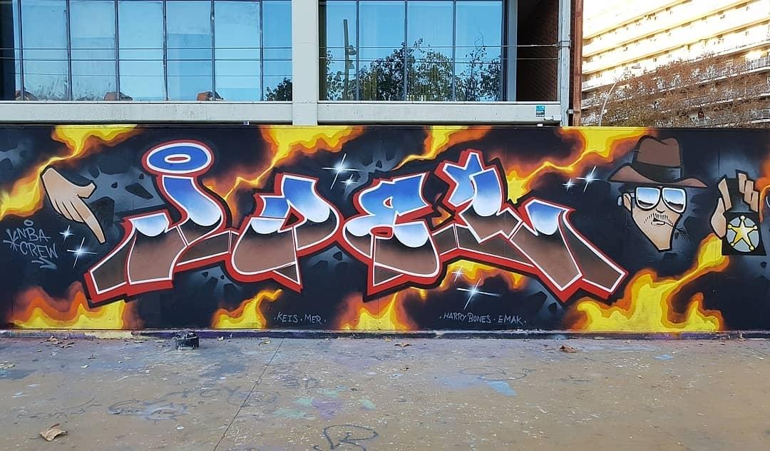 Wallspot - Joelarroyo - Tres Xemeneies - Barcelona - Tres Xemeneies - Graffity - Legal Walls - Lletres