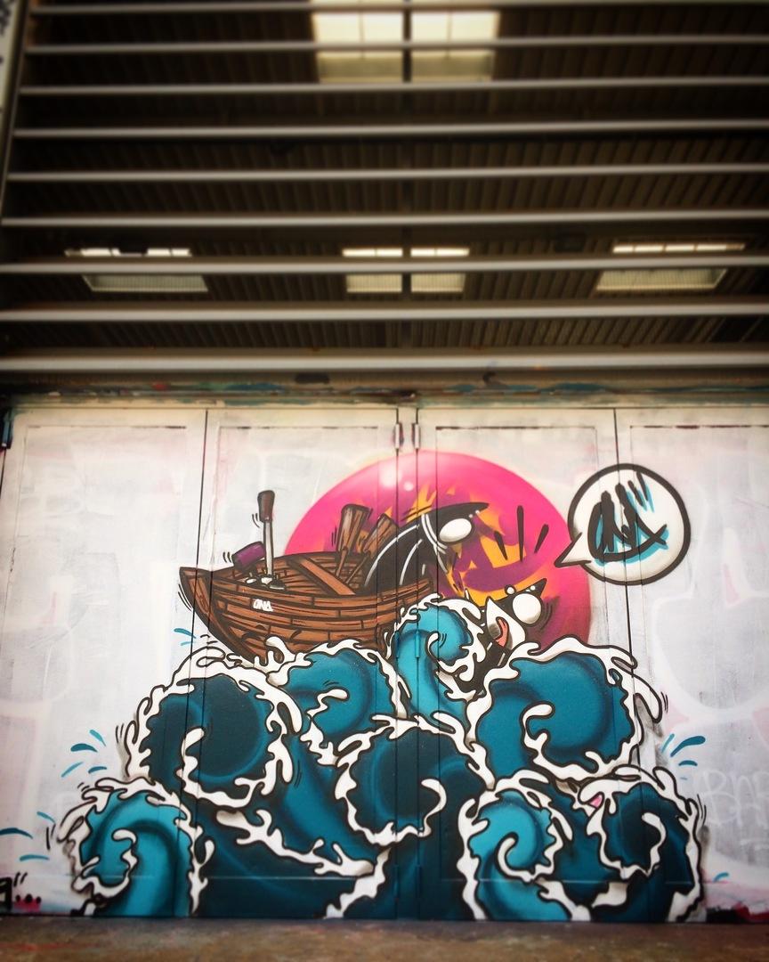 Wallspot - ONA - Tres Xemeneies - ONA - Barcelona - Tres Xemeneies - Graffity - Legal Walls - Letters, Illustration, Others