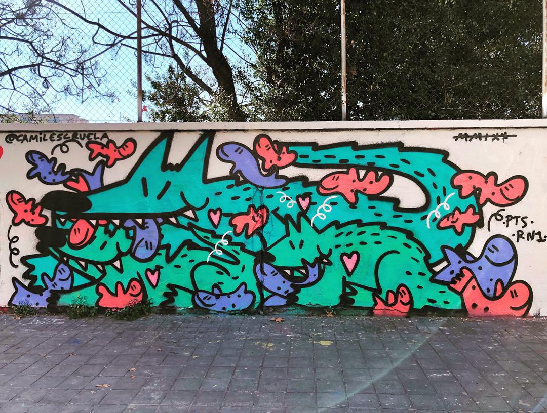 Wallspot - kamil escruela -  - Barcelona - Agricultura - Graffity - Legal Walls - Letters, Illustration, Others