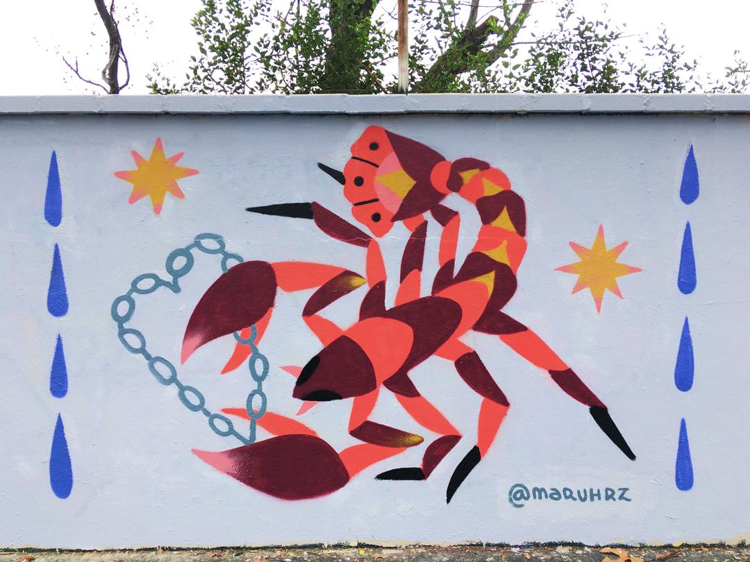 Wallspot - Maruhrz - Rainy Day - Barcelona - Agricultura - Graffity - Legal Walls -