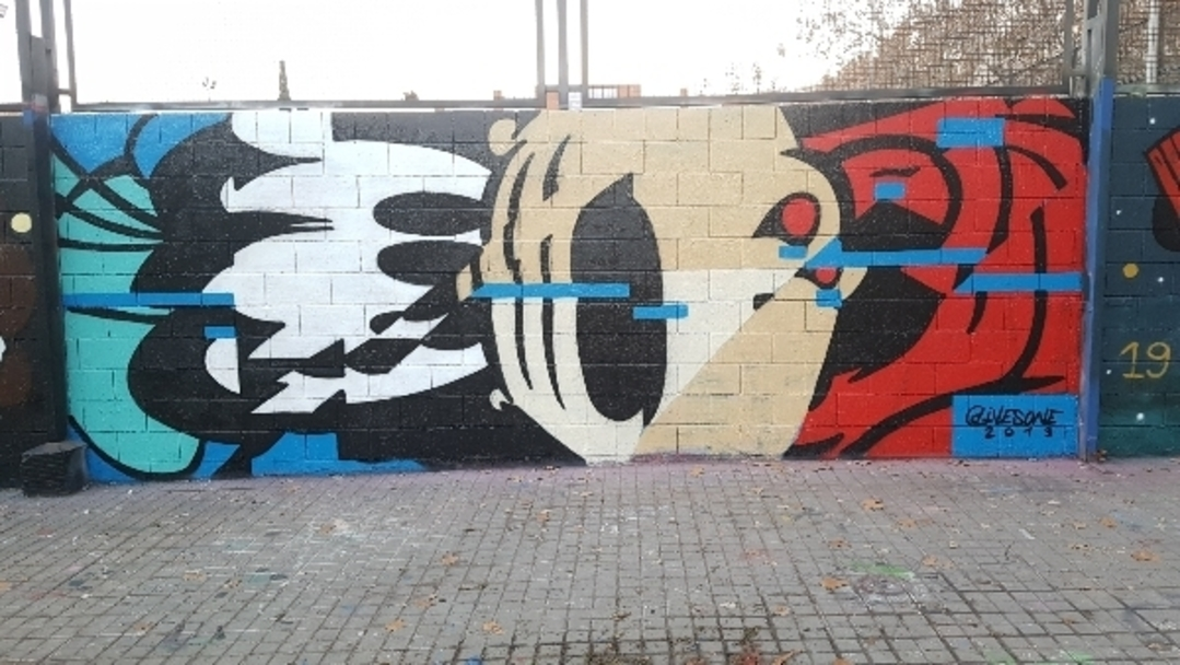 Wallspot - ives.one - goofy time - Barcelona - Agricultura - Graffity - Legal Walls -