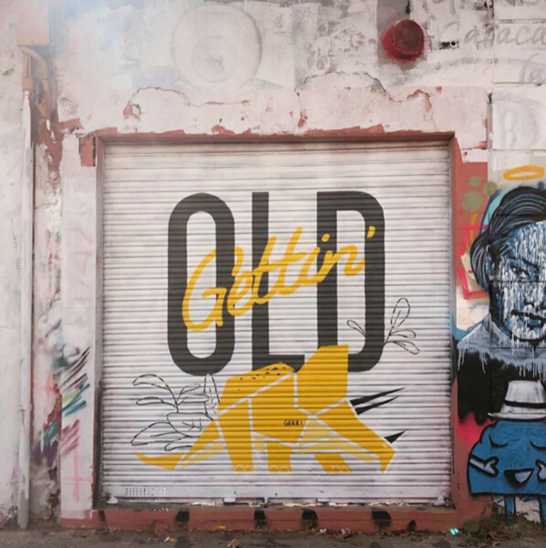 Wallspot - nuriatoll - Gettin' OLD - Barcelona - Western Town - Graffity - Legal Walls - Letras, Ilustración