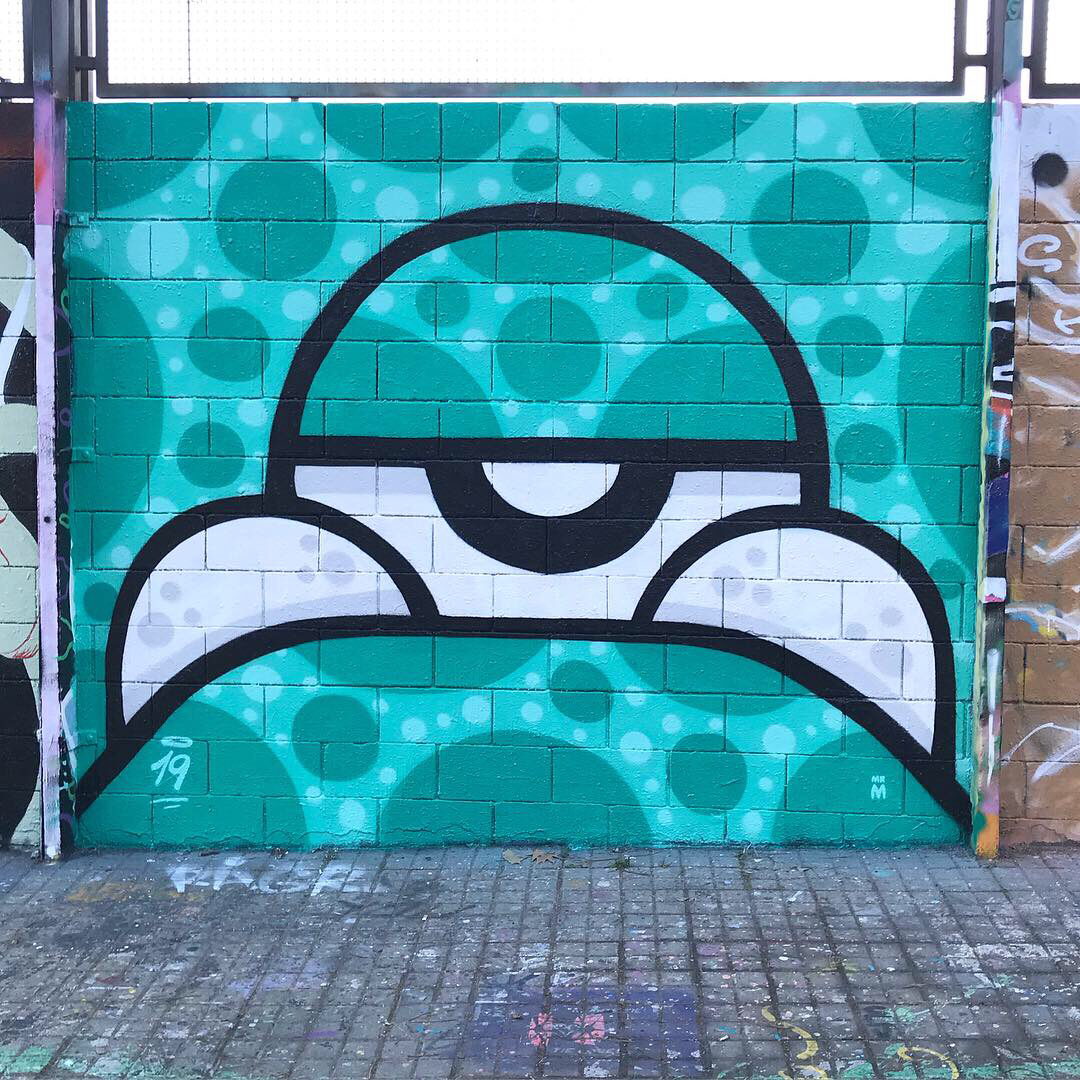 Wallspot - Mr.M -  - Barcelona - Drassanes - Graffity - Legal Walls -