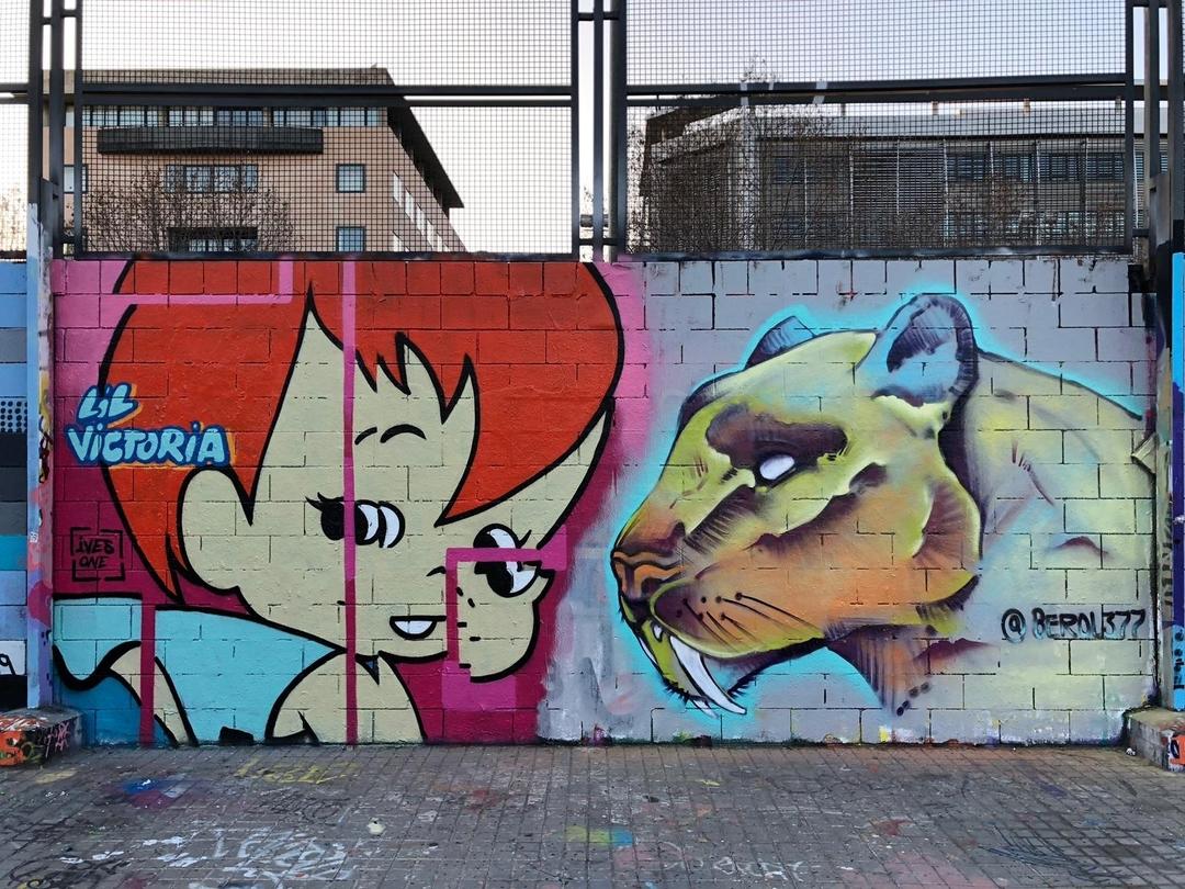 Wallspot - ives.one - MR.M Bday jam with Tim Marsh Oreo Berol and Nogreywalls - Barcelona - Drassanes - Graffity - Legal Walls - Illustration