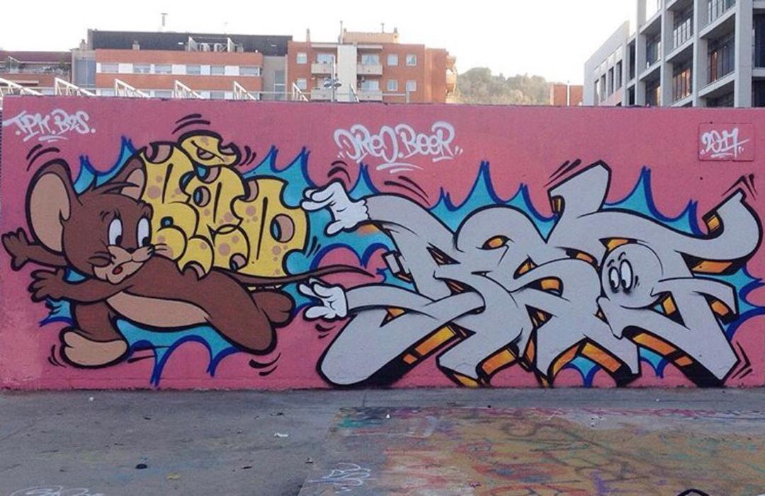 Wallspot - Zach OREO - Oreo Beer Sof - Barcelona - Tres Xemeneies - Graffity - Legal Walls - Letters, Illustration