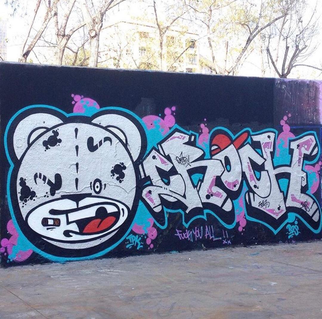 Wallspot - Zach OREO - Oreo / Croch / B2S CPZ - Barcelona - Tres Xemeneies - Graffity - Legal Walls - Letters, Illustration
