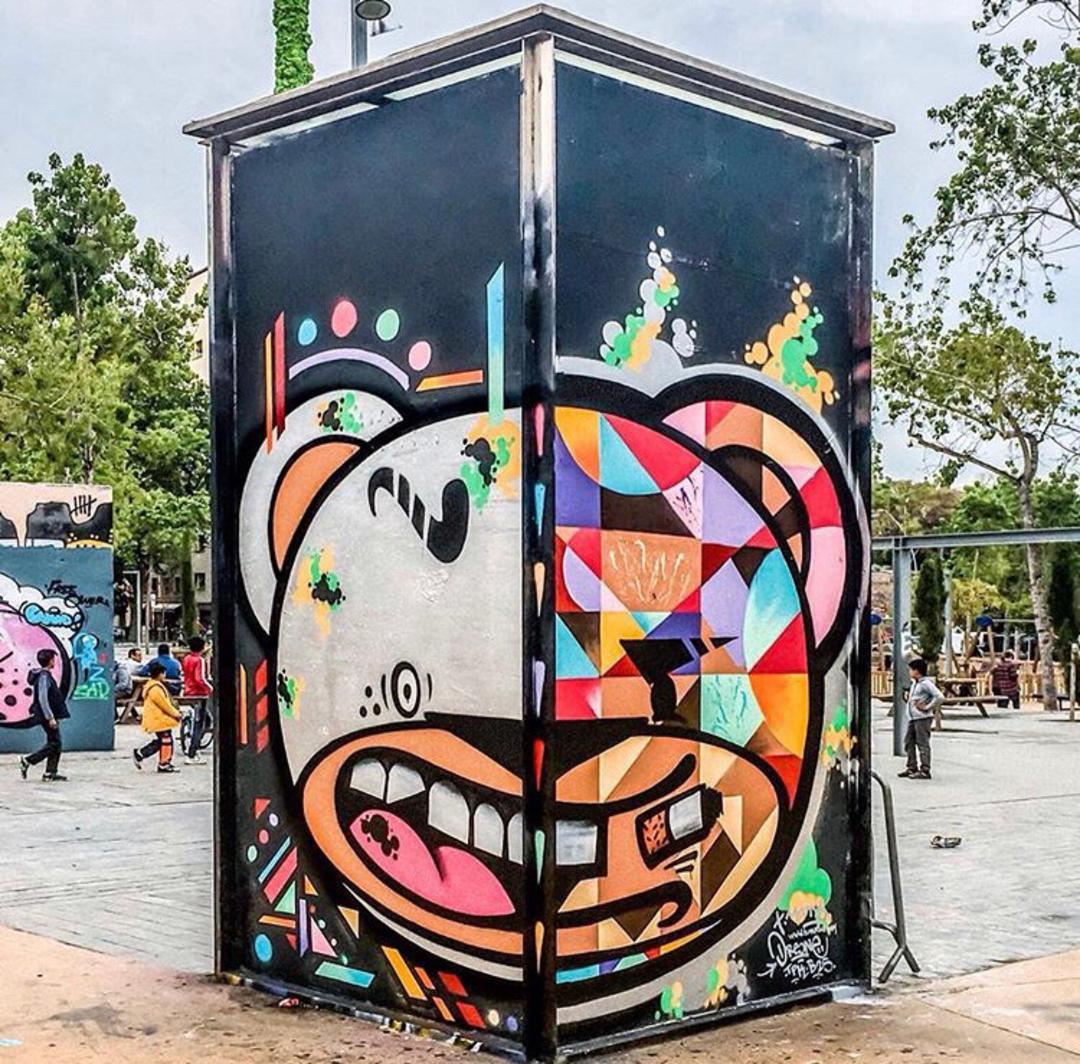 Wallspot - Zach OREO - Oreo / Tim Marsh - Barcelona - Tres Xemeneies - Graffity - Legal Walls - Illustration, Others