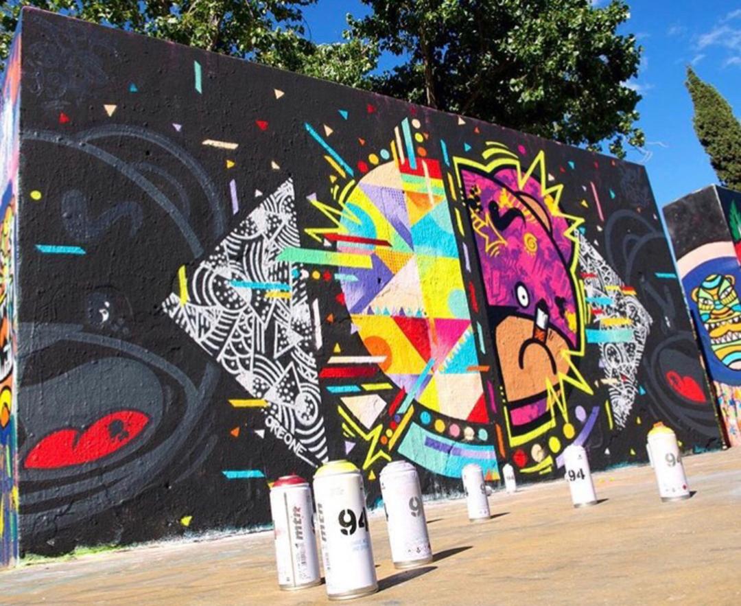 Wallspot - Zach OREO - 50/50 with Tim Marsh - Barcelona - Tres Xemeneies - Graffity - Legal Walls - Illustration