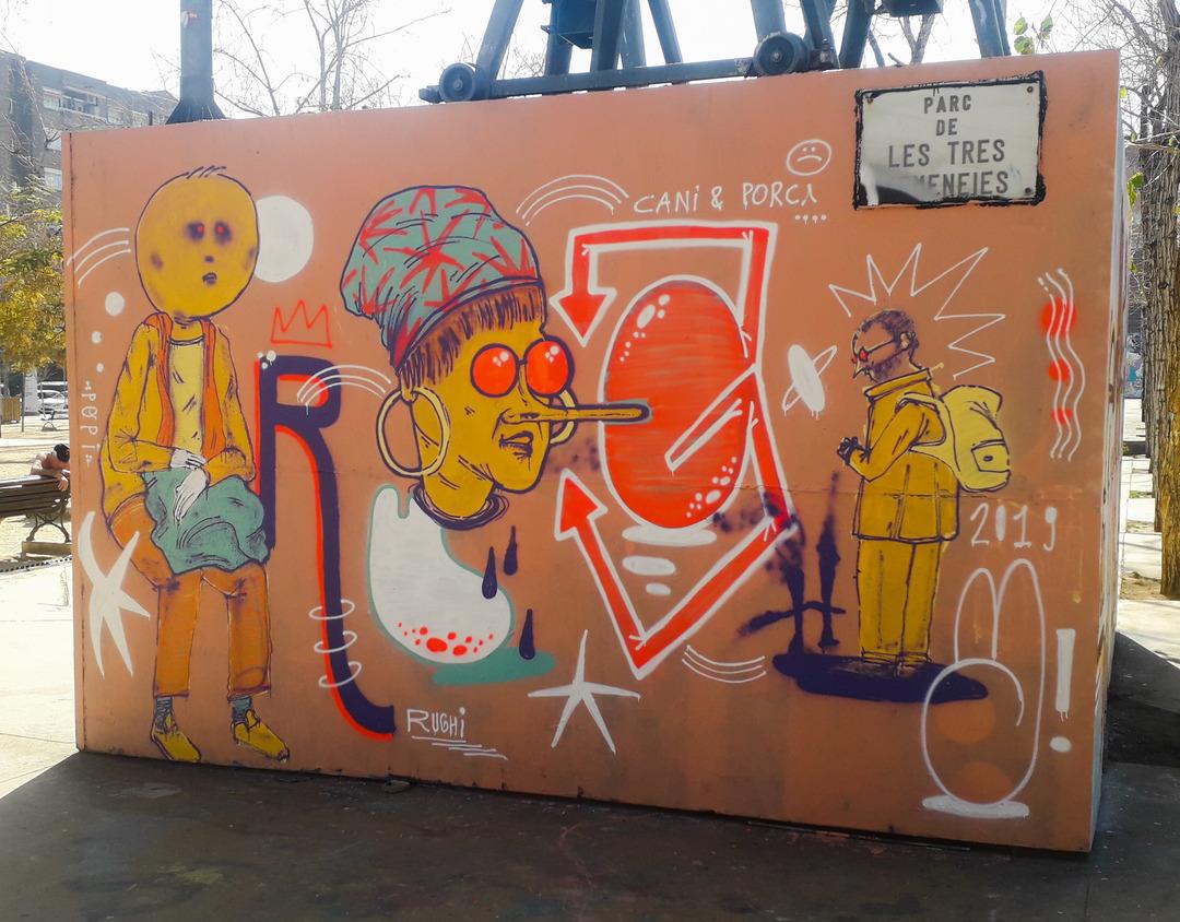 Wallspot - El Rughi - Avanguarde Autotune - Barcelona - Tres Xemeneies - Graffity - Legal Walls - Lletres, Il·lustració, Altres