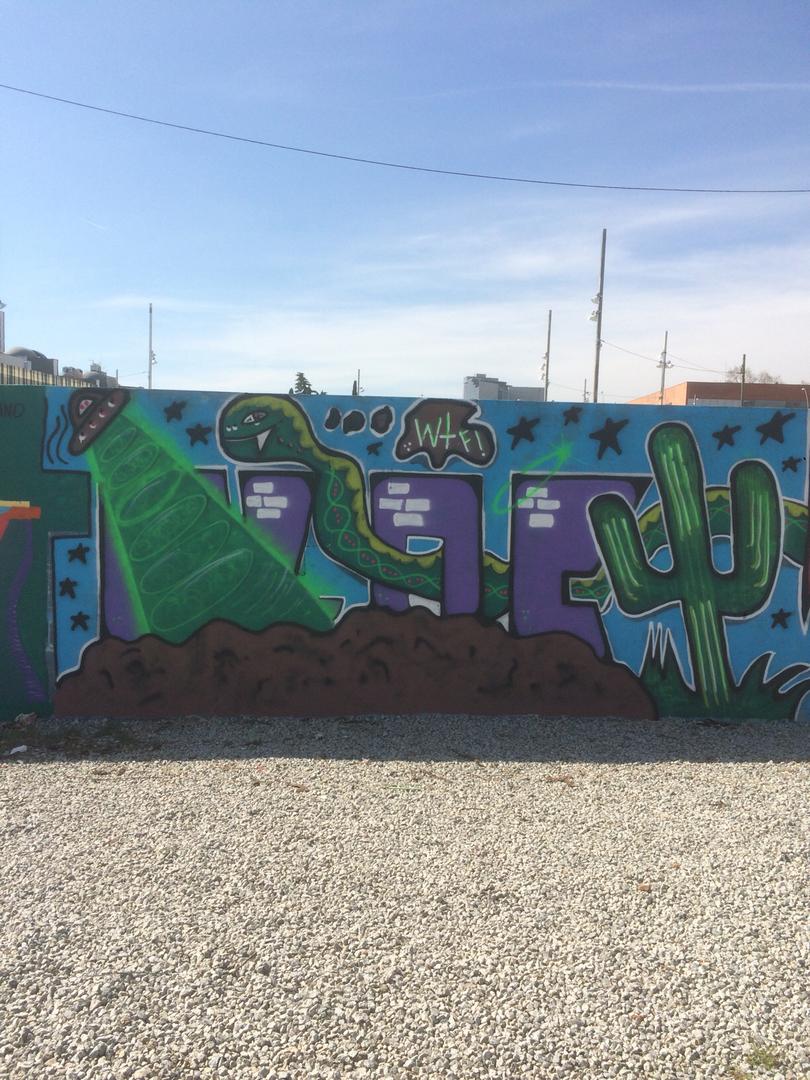 Wallspot - bloc -  - Barcelona - Parc de la Bederrida - Graffity - Legal Walls - Letters