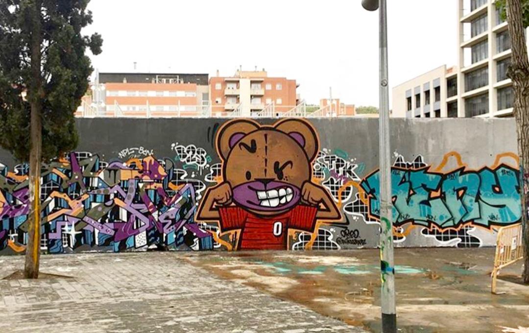 Wallspot - Zach OREO - Oreo / Dato / Keny - Barcelona - Tres Xemeneies - Graffity - Legal Walls - Letters, Illustration, Others