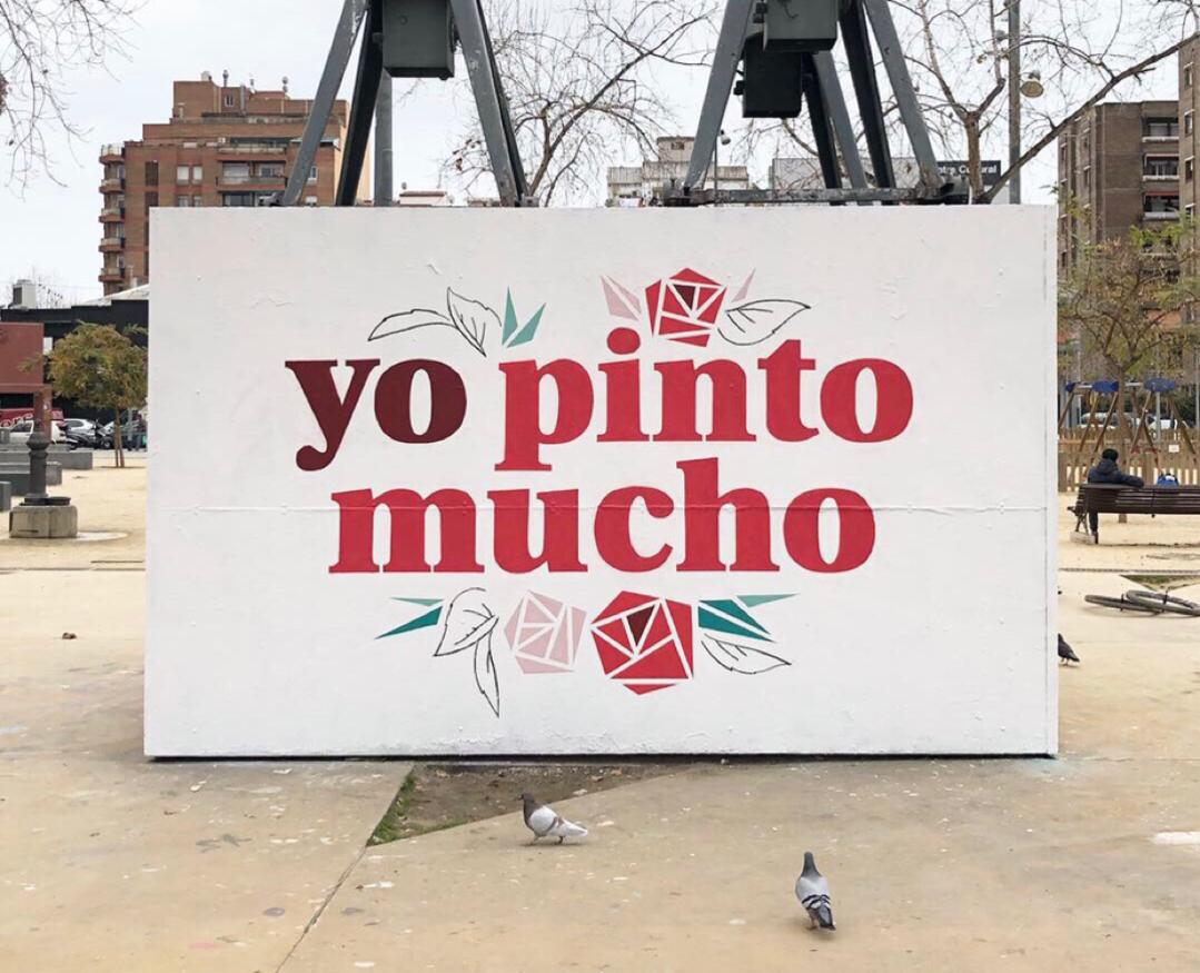 Wallspot - nuriatoll - #yopintomucho #nosotraspintamosmucho - Barcelona - Tres Xemeneies - Graffity - Legal Walls - Lletres, Il·lustració