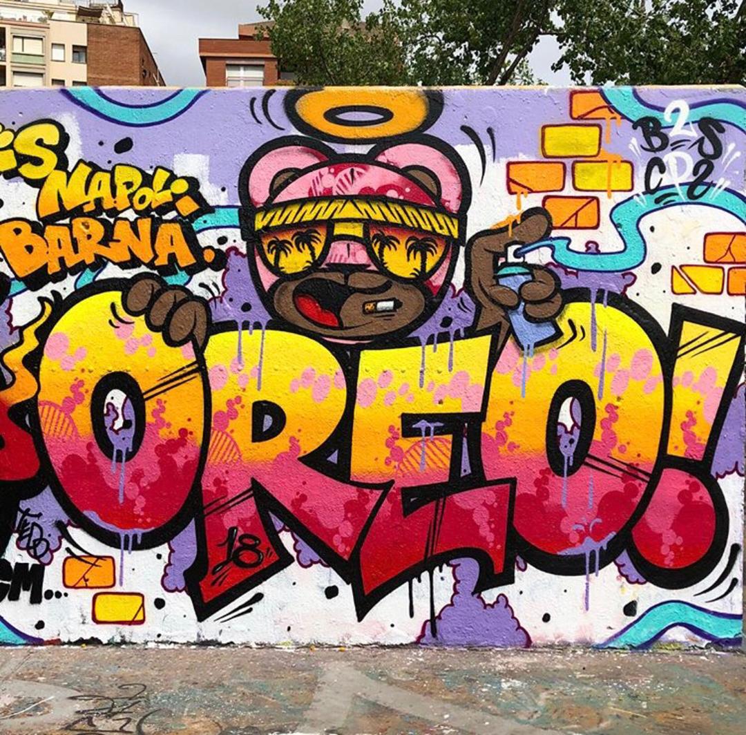 Wallspot - Zach OREO - OREO / DATO - Barcelona - Tres Xemeneies - Graffity - Legal Walls - Letters, Illustration, Others