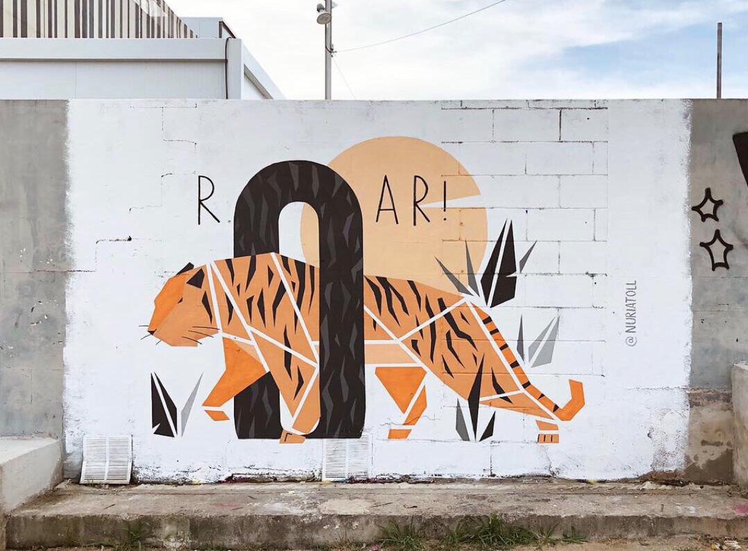 Wallspot - nuriatoll - rOAr! - Barcelona - Parc de la Bederrida - Graffity - Legal Walls - Il·lustració