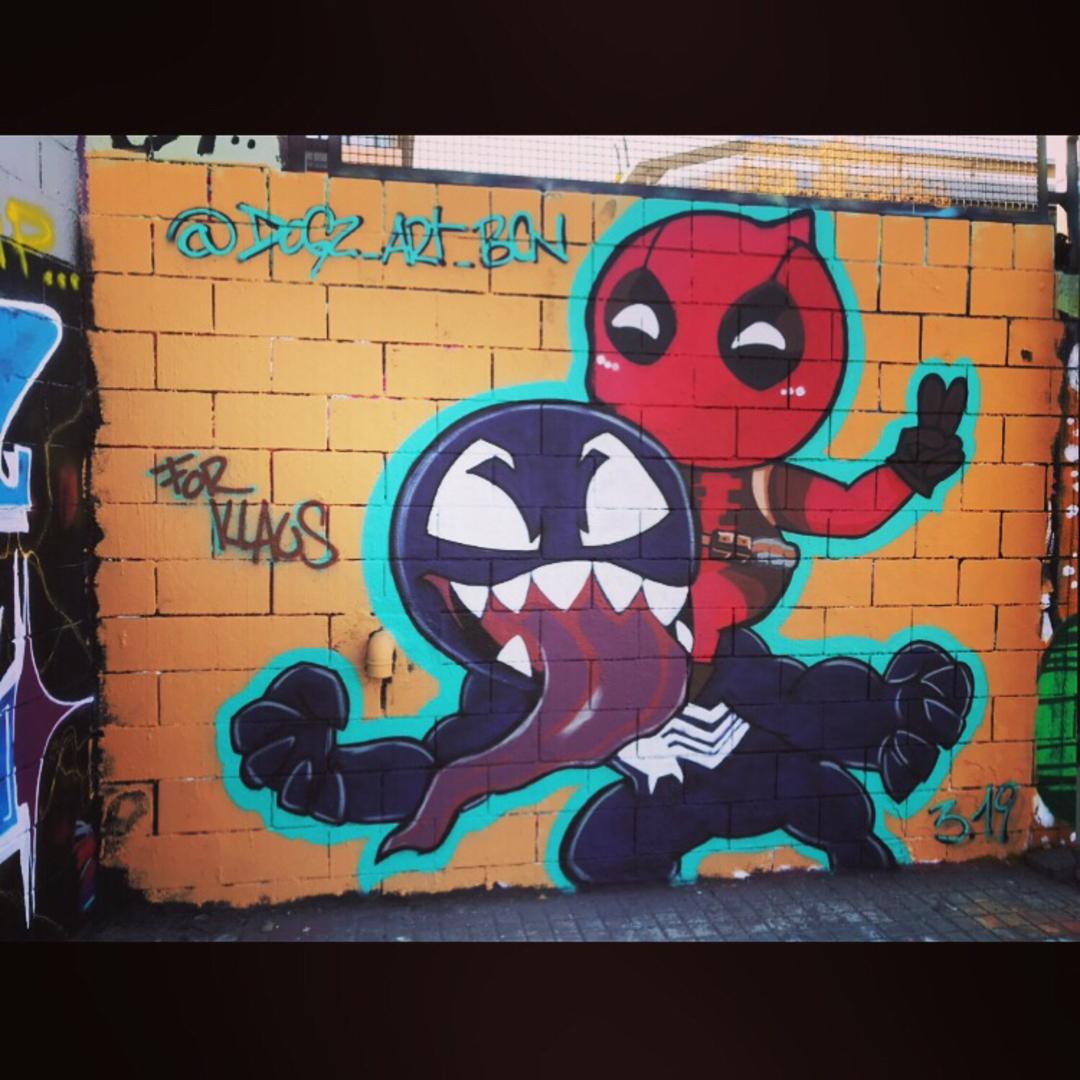 Wallspot - Dogz - Drassanes - Barcelona - Drassanes - Graffity - Legal Walls - Ilustración