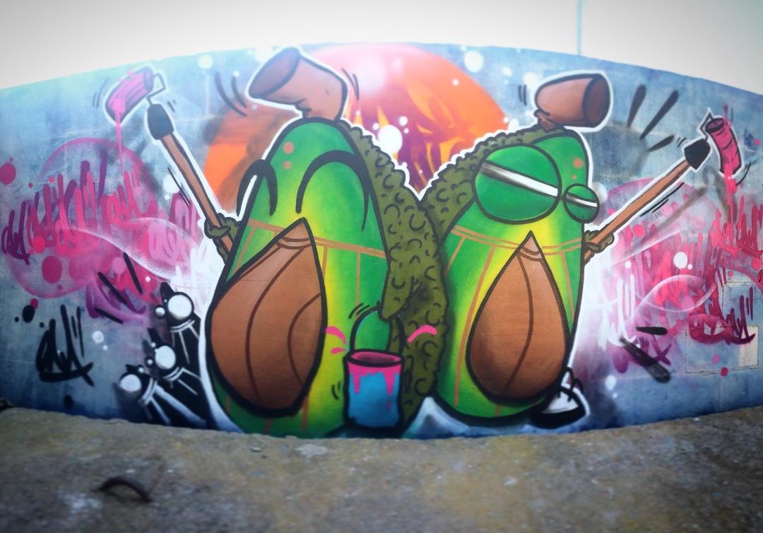 Wallspot - ONA - PaltONAs!! - Barcelona - Parc de la Bederrida - Graffity - Legal Walls - Lletres, Altres
