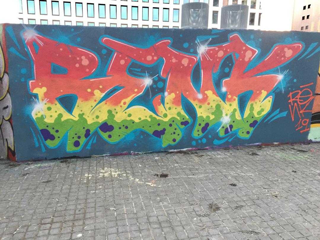 Wallspot - Renk_graff -  - Barcelona - Poble Nou - Graffity - Legal Walls -