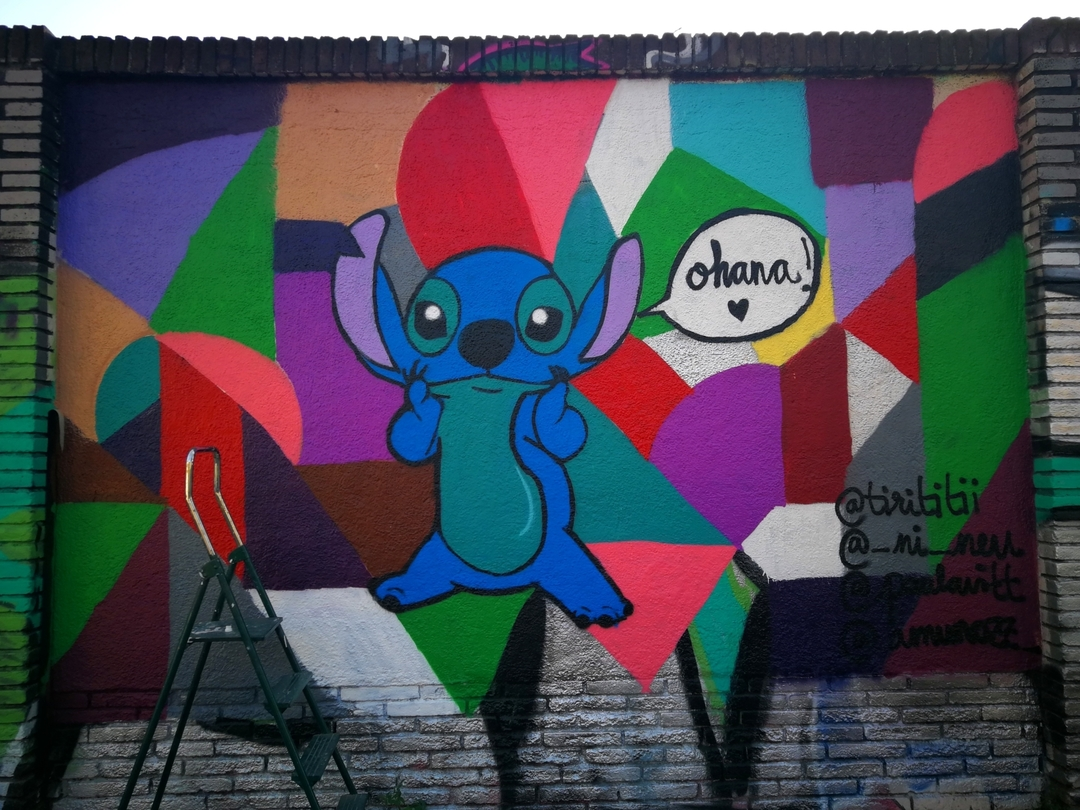 Wallspot - _ni_neu - ohana means family - Barcelona - Selva de Mar - Graffity - Legal Walls -