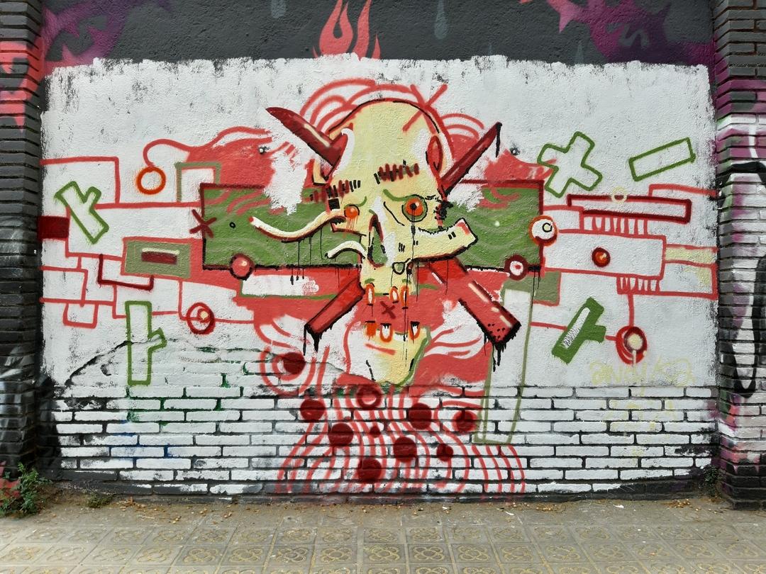 Wallspot - andjka -  - Barcelona - Selva de Mar - Graffity - Legal Walls - Il·lustració