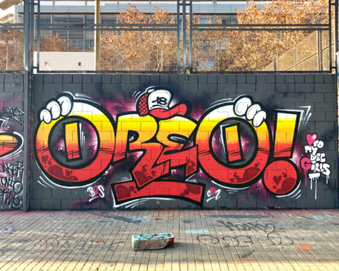 Wallspot - Zach OREO - Crosh Oreo - Barcelona - Drassanes - Graffity - Legal Walls - Letters, Illustration