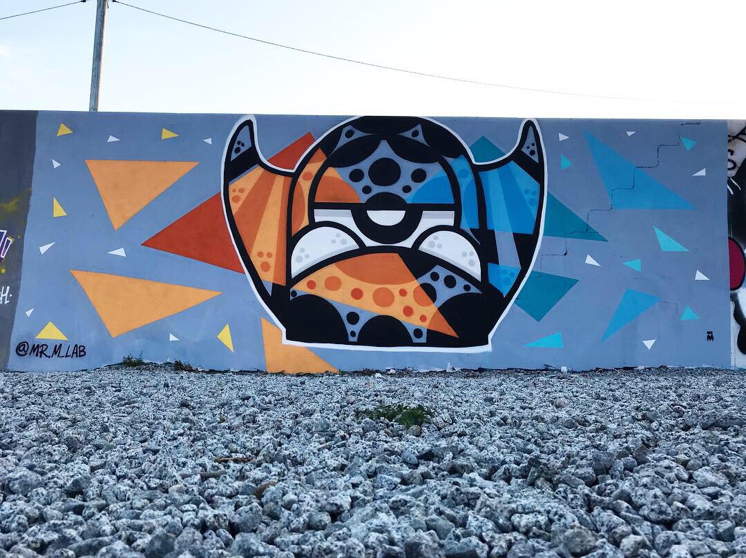 Wallspot - Mr.M -  - Barcelona - Parc de la Bederrida - Graffity - Legal Walls -