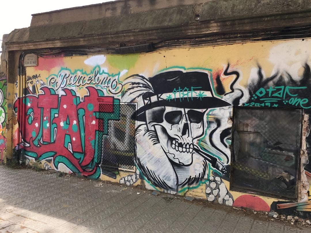 Wallspot - Mr.Otaf - Selva de Mar - Mr.Otaf - Barcelona - Selva de Mar - Graffity - Legal Walls - Letras, Ilustración
