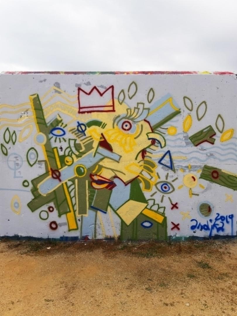 Wallspot - andjka -  - Barcelona - Forum beach - Graffity - Legal Walls - Il·lustració