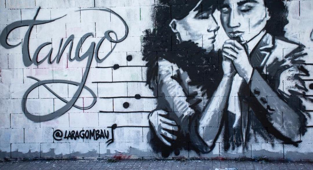 Wallspot - araL - tango revolucionari - Barcelona - Drassanes - Graffity - Legal Walls - Lletres, Il·lustració