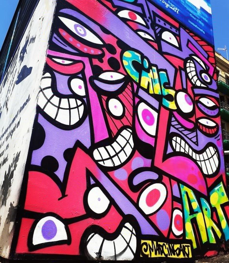 Wallspot - madcinsart - CUBE tres xemeneies - Barcelona - CUBE tres xemeneies - Graffity - Legal Walls - Letras, Stencil, Otros