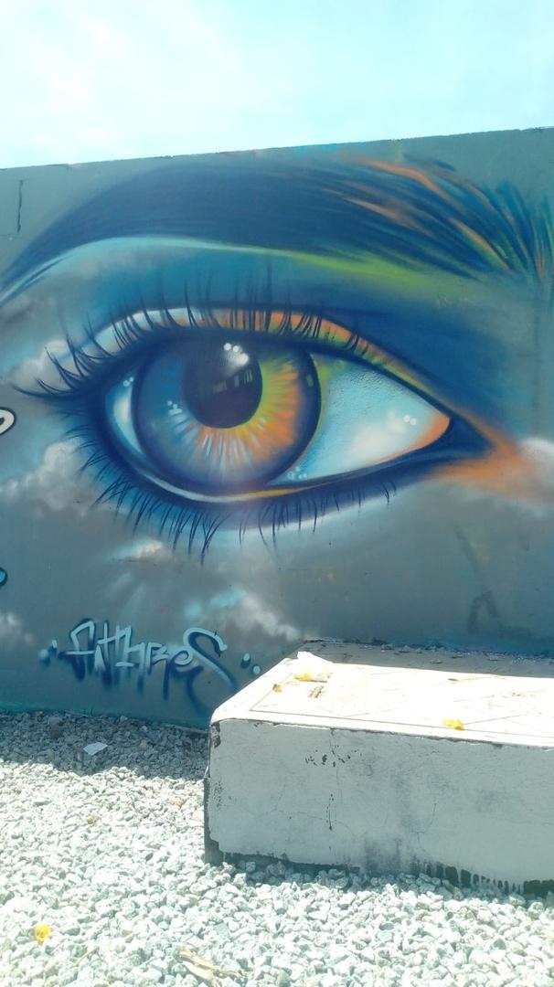 Wallspot - martantares - sky eye - Barcelona - Parc de la Bederrida - Graffity - Legal Walls - Illustration