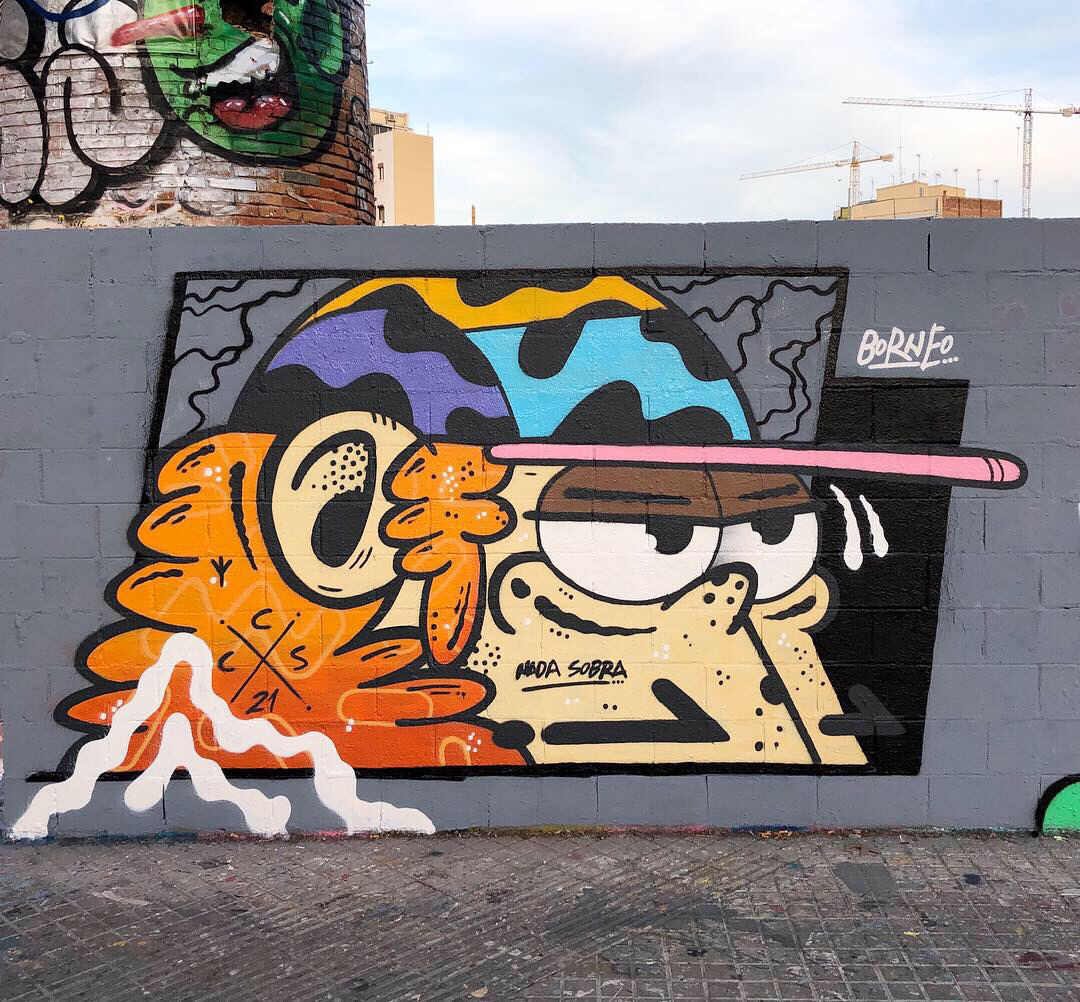 Wallspot - Borneo Modofoker -  - Barcelona - Poble Nou - Graffity - Legal Walls -