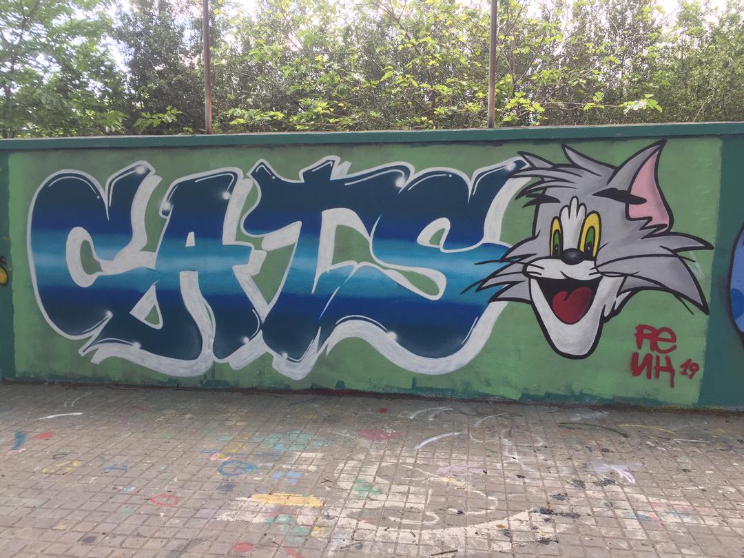 Wallspot - Renk_graff - Cats - Barcelona - Agricultura - Graffity - Legal Walls - Lletres