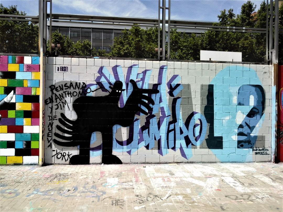 Wallspot - Waldacting - Drassanes - 'Pensando en Anthony y Jim de Nueva-York' - Barcelona - Drassanes - Graffity - Legal Walls -