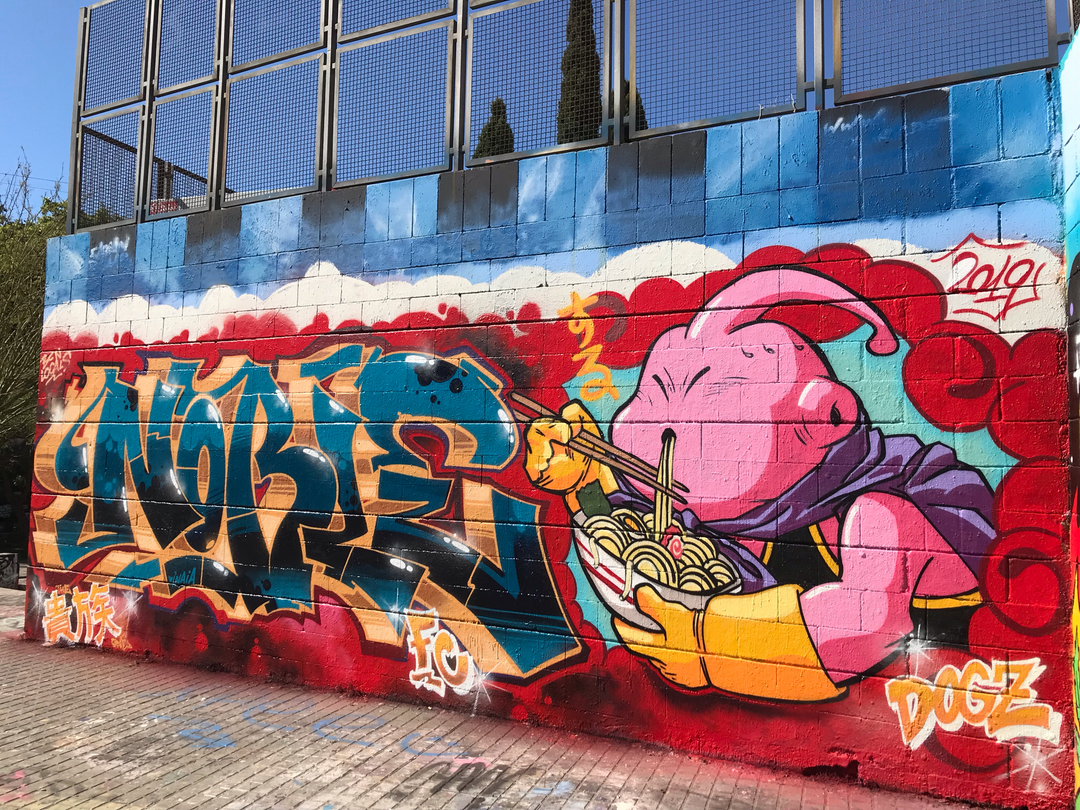 Wallspot - Dogz - collab with @realnoble - Barcelona - Drassanes - Graffity - Legal Walls -