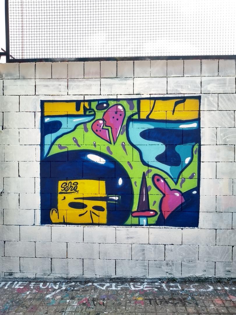 Wallspot - selva - abstracshitmaofocka - Barcelona - Drassanes - Graffity - Legal Walls - Illustration