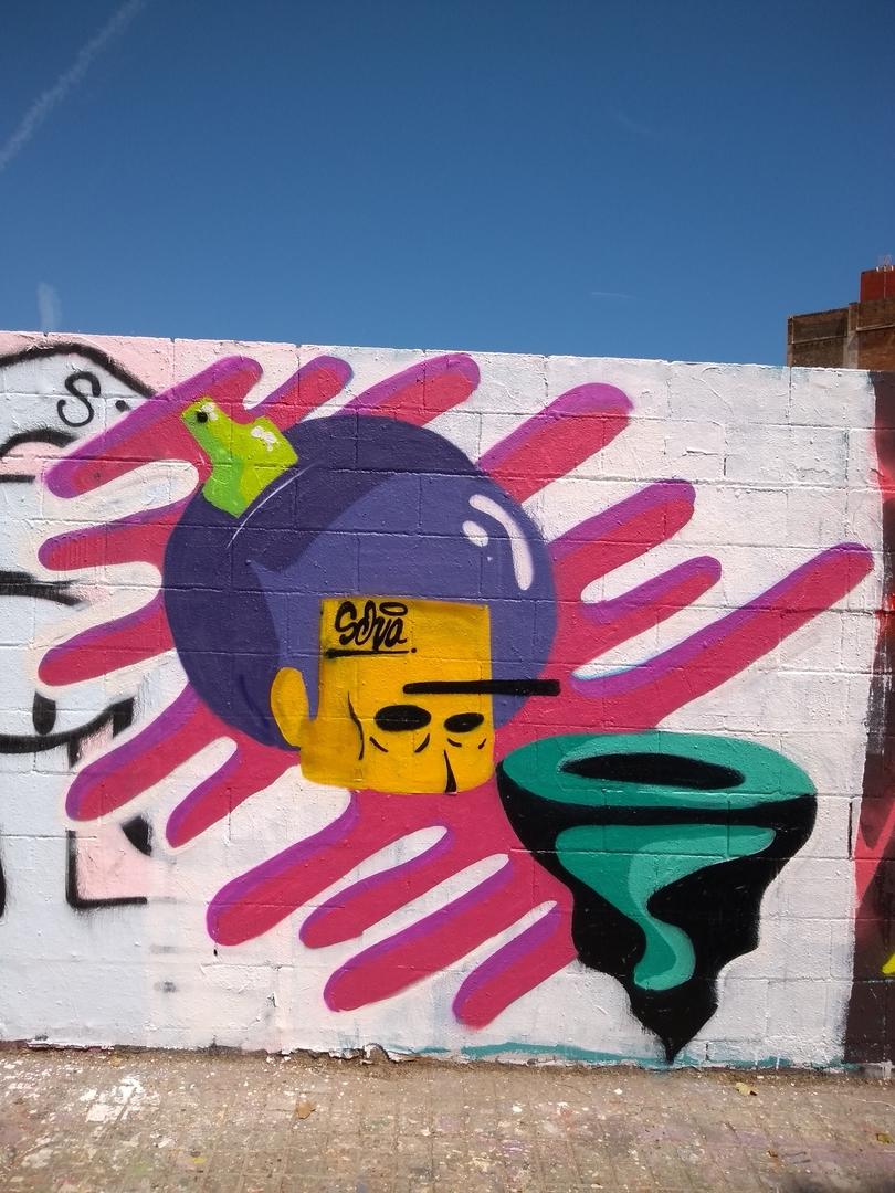 Wallspot - selva - No Borders - Barcelona - Poble Nou - Graffity - Legal Walls - Illustration