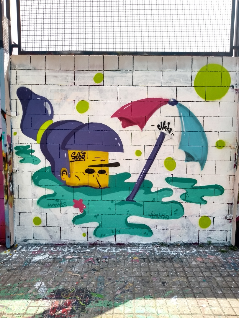 Wallspot - selva - verano niche - Barcelona - Drassanes - Graffity - Legal Walls - Illustration