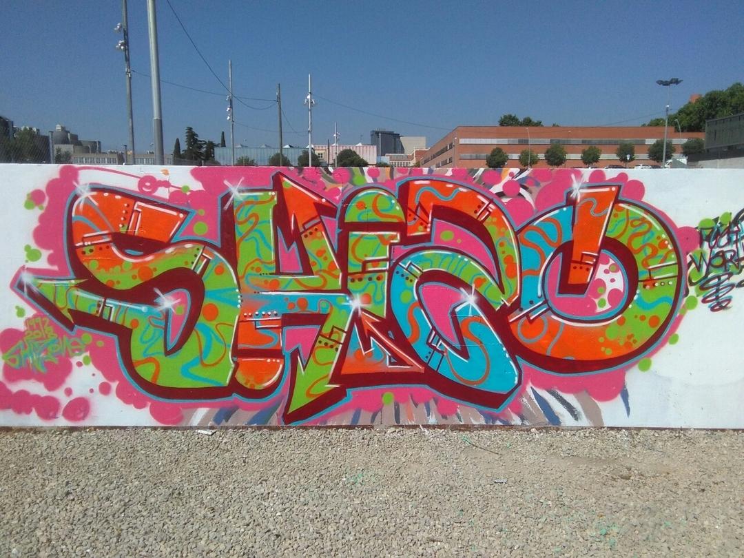 Wallspot - skizone - Parc de la Bederrida - Barcelona - Parc de la Bederrida - Graffity - Legal Walls - Letters