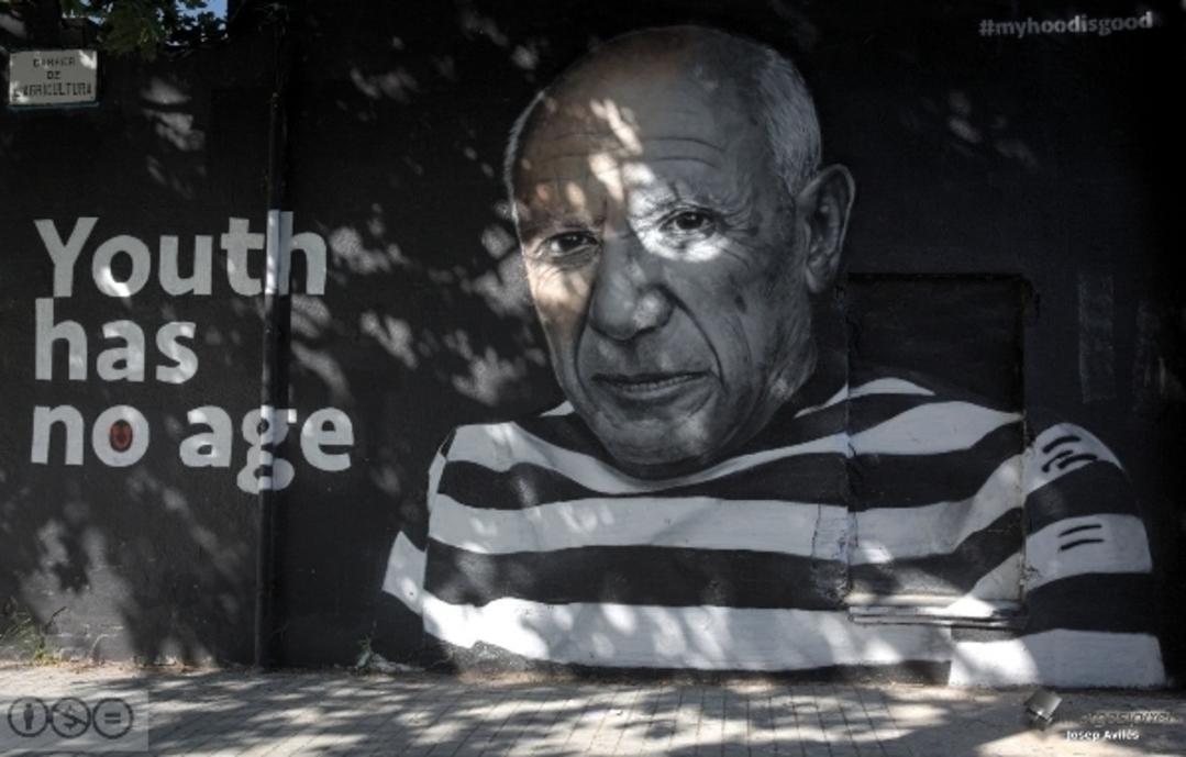 Wallspot - imatges i píxels - Carrer Veneçuela. Poblenou. Juny 2019 - Barcelona - Agricultura - Graffity - Legal Walls - Lletres, Il·lustració