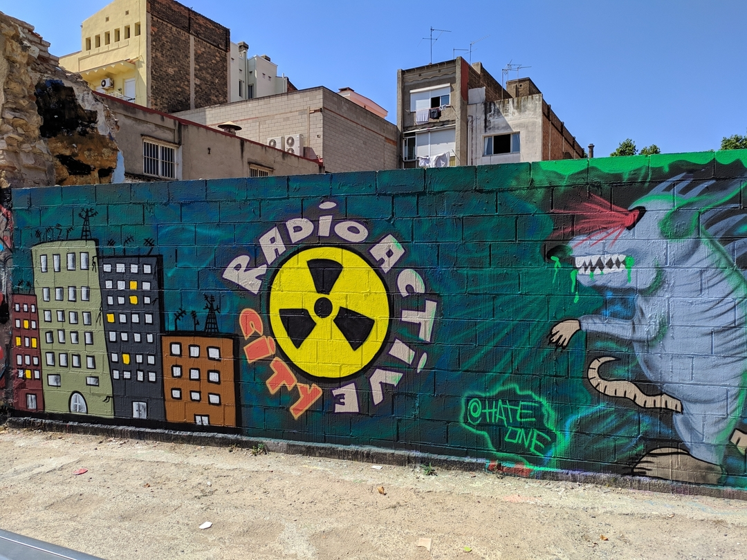 Wallspot - Hate_one - Radioactive City  - Barcelona - Poble Nou - Graffity - Legal Walls -