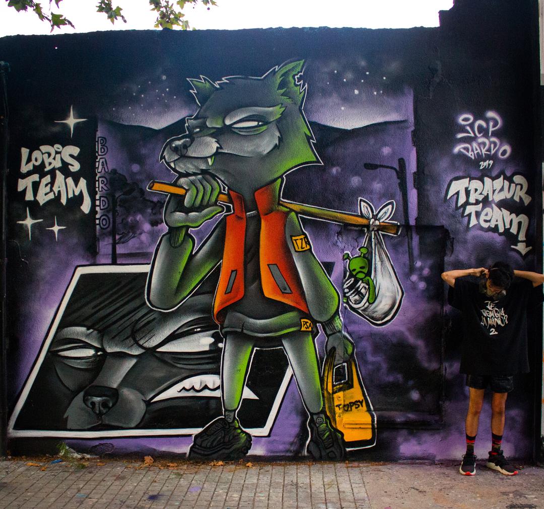 Wallspot - JCP Bardo - inmigrante patagonico  - Barcelona - Agricultura - Graffity - Legal Walls - Il·lustració