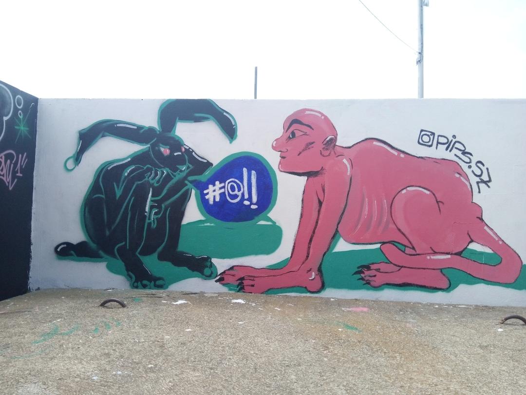 Wallspot - Pips -  - Barcelona - Parc de la Bederrida - Graffity - Legal Walls -