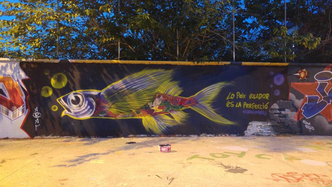 Wallspot - araL - lo peix volador - Barcelona - Agricultura - Graffity - Legal Walls - Il·lustració