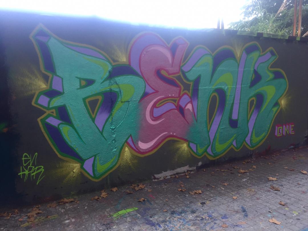 Wallspot - Renk_graff - Metal Colors - Barcelona - Agricultura - Graffity - Legal Walls - Lletres